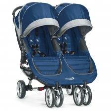 עגלת תאומים סיטי מיני דאבל City Mini Double מביתבייבי ג'וגרBaby Jogger בצבע כחול