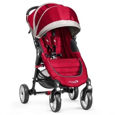 עגלת תינוק סיטי מיני City Mini מבית בייבי ג'וגר Baby Jogger בצבע אדום