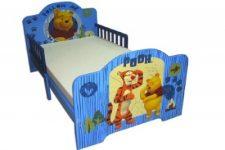 מיטת מעבר עץ לתינוק של פו הדב