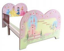 מיטת מעבר עץ לתינוק דגם נסיכות