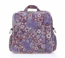 תיק עגלה ביוטי Beauty מבית גיטה בגס Gitta bags בצבע סגול פרחים