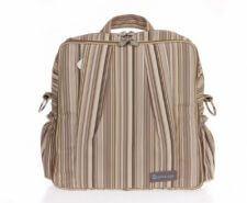תיק עגלה ביוטי Beauty מבית גיטה בגס Gitta bags בצבע קאמל פסים