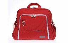 תיק עגלה Gita Ideal אדום עם תכלת ומבחר מוצרי תינוקות נוספים