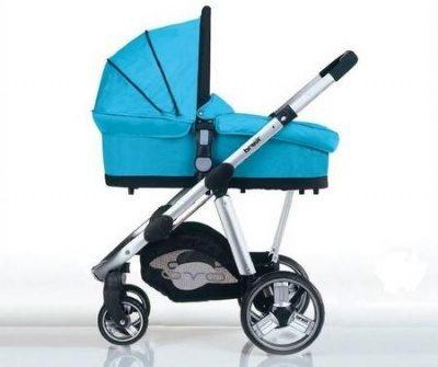 עגלת תינוק אובו Ovo מבית ברווי Brevi איטליה בצבע טורקיז