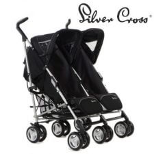 עגלת תאומים סילבר קרוס  ומבחר מוצרי תינוקות נוספים