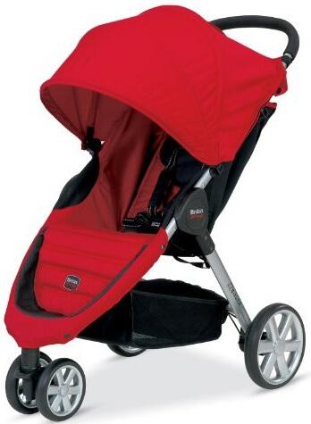 עגלת תינוק בי אג'יל B-Agile מבית ברייטקס Britax בצבע אדום