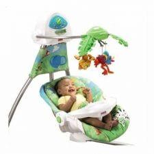 נדנדת יער הגשם מבית פישר פרייס ומבחר מוצרי תינוקות נוספים