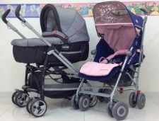 עגלת שכיבה פג +טיולון מקלארן XLR ומבחר מוצרי תינוקות נוספים