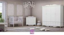 חדר פריז הנו חדר תינוקות במראה מלכותי בעל מקומות אחסון רבים לנוחיות ההורים. במחיר נוח ברשת חנויות בייבי לאב.