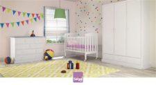חדר לתינוק מרסיי ברשת חנויות בייבי לאב הנו חדר ייחודי במראה מעודכן ונקי.