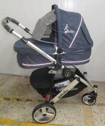 """עגלת תינוק משולבת גו בייבי ויולה צבע ג""""ינס בעיצוב חדשניעגלה נוחה ופרקטית ניתן לחבר סלקל של חברת סייבקס/גו בייבי בעזרת מתאמים"""