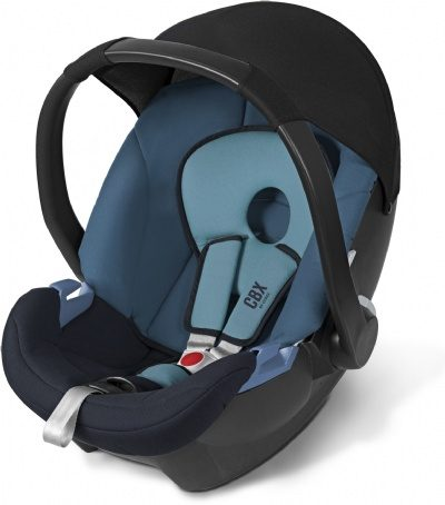 סל קל סייבקס אטון צבע כחול של לבת סייבקס הגרמנית מתחבר לרוב עגלות התינוק (מימה