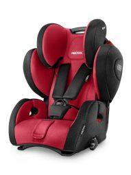 """כסא בטיחות ריקארו דגם יאנג ספורט הירו צבע אדוםכיסא בטיחות משולב בוסטר ממשקל 9-36 ק""""ג"""