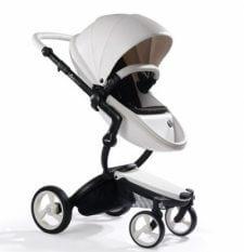 עגלת תינוק מבית מימה קסרי Mima Xari בצבע לבן שלגיה