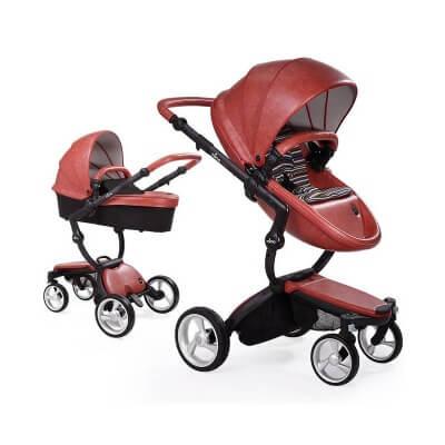 עגלת תינוק מימה קסרי אדוםעגלת הפרימיום הספרדית בצבע אדום לוהט דגמי 2015 של העגלה היפה בעולם להשיג ברשת בייבי לאב