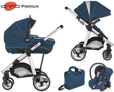 עגלת תינוק אובו פרימיום Ovo Premium מבית ברווי Brevi בצבע כחול