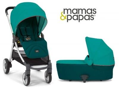 עגלת תינוקארמדילו פליפ Armdilo Flip XT מביתמאמאס אנד פאפאסMamas & Papas בצבע טורקיז