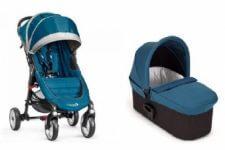 בייבי ג'וגר 4 גלגלים צבע טורקיז+ אמבטיה דה לוקס עגלת תינוק בייבי ג'וגר סיטי מיני 4 גלגלים בשילוב עם אמבטיה מהדגם החדש