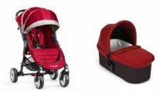 בייבי ג'וגר 4 גלגלים צבע אדום+ אמבטיה דה לוקסבייבי ג'וגר סיטי מיני 4 גלגלים בשילוב אמבטיה מפוארת דגם דה לוקס לשימוש מגיל לידה ועד גיל 3