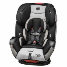 """כיסא בטיחות אוונפלו סימפוני פלטניום E3 אפור דגם חדש ומפואר עם בדים מווסתי טמפרטורה הגנת צד E3 מתאים מגיל לידה ועד 50 ק""""ג"""
