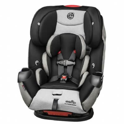 כיסא בטיחות סימפוניפלטינוםSymphony Platinum E3 מבית אוונפלו Evenflo בצבע אפור