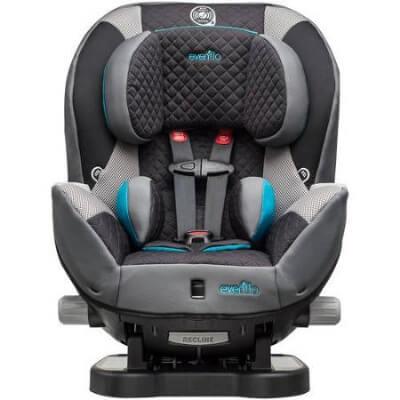 כיסא בטיחות טריומףTriumph LXמבית אוונפלו Evenflo בצבע אפור טורקיז