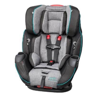 כיסא בטיחות סימפוני פלטינום Symphony Platinum DLX E3 X מביתאוונפלוEvenflo בצבע אפור טורקיז