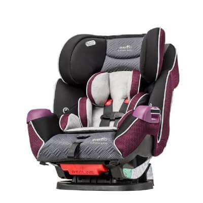 כיסא בטיחות סימפוני פלטינום Symphony Platinum DLX E3 X מביתאוונפלוEvenflo בצבע סגול