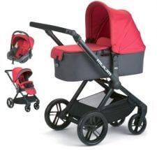 עגלת תינוק מאם Muum מבית ג'יין Janeבצבע אדום