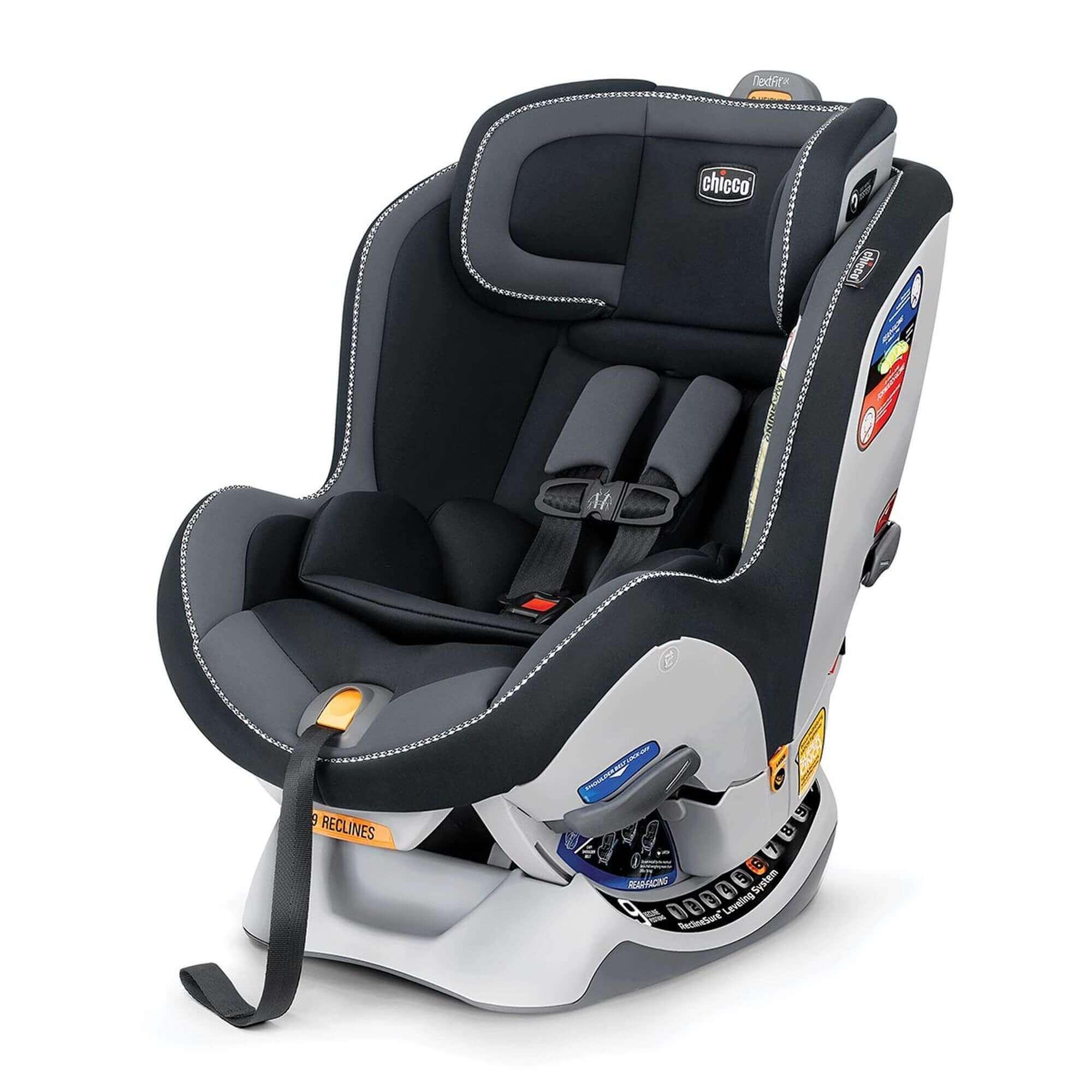 כסא בטיחות צ'יקו נקסטפיט שחור אפור ברשת בייבי לאב