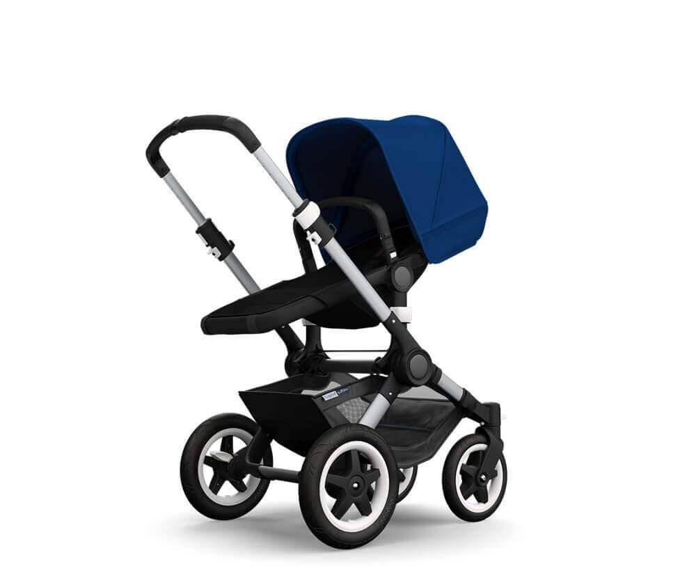 עגלת תינוק בוגבו באפלו - מרכב אלומיניום בד כחול רויאל