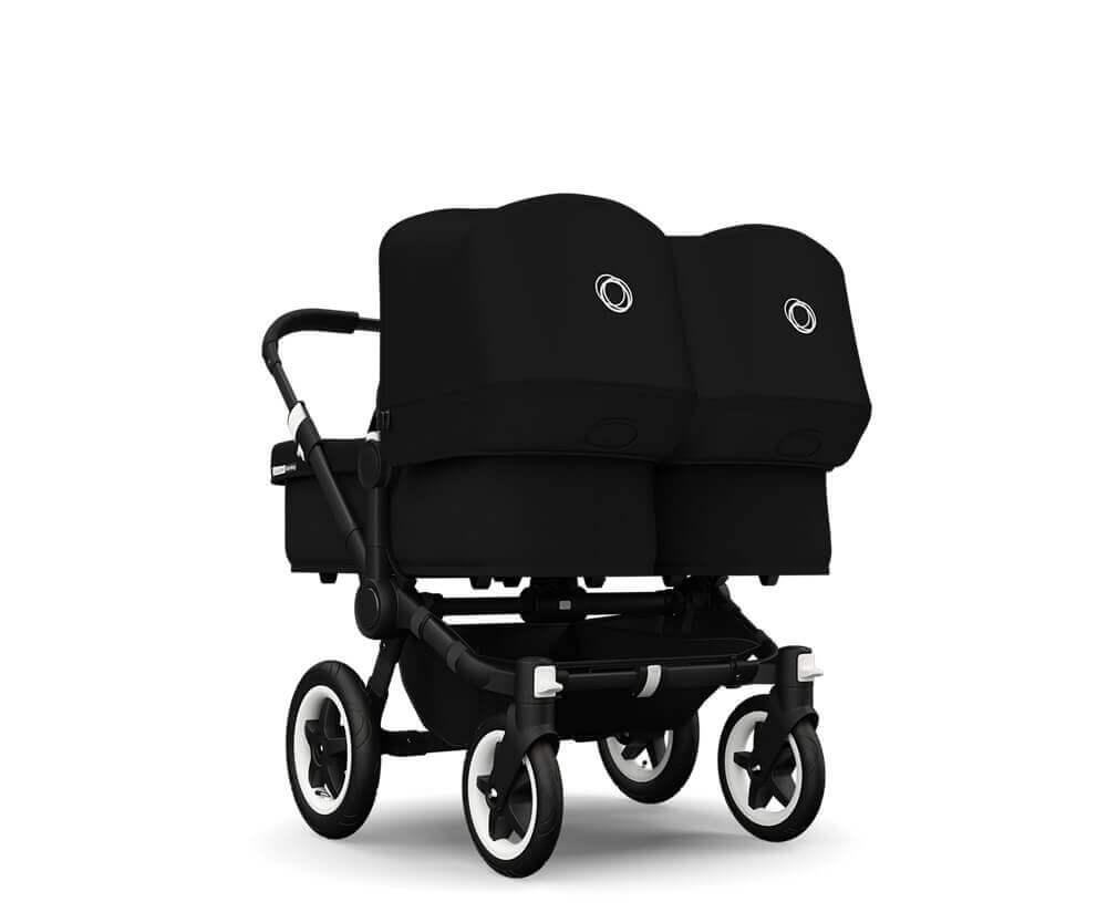 עגלת תינוק דונקי טווין לתאומים אול בלאקDonkey Twin All Black מבית בוגבוBugaboo