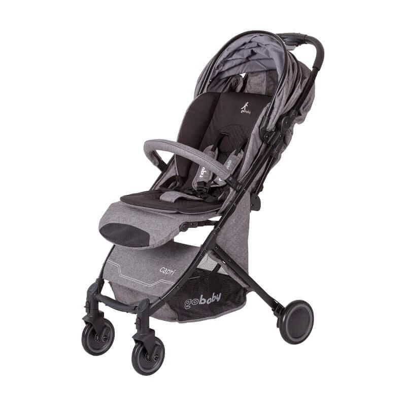 עגלת תינוק Capri גו בייבי אפור בהיר