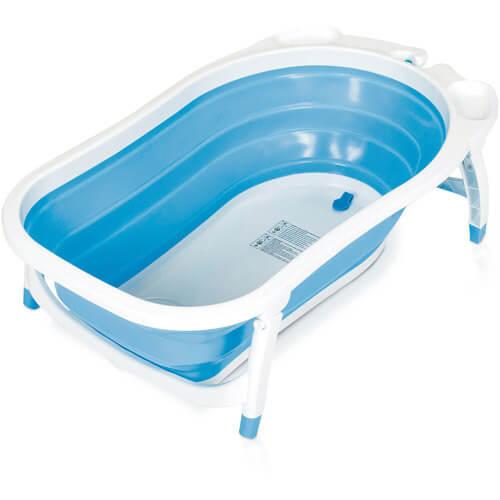 אמבטיה מתקפלת לתינוק בצבע כחול