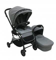 עגלת תינוק איזי בייבי איגל EAGLE צבע אפור