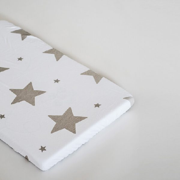 סדין כוכבים גדולים אפורים