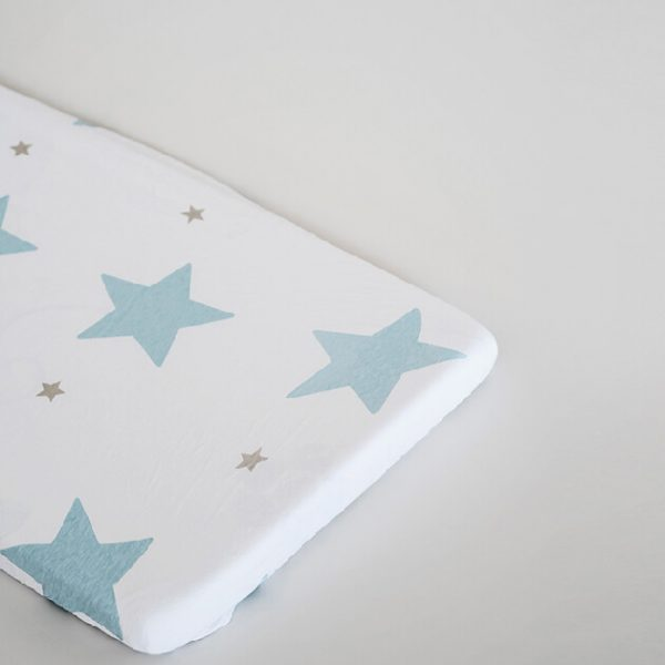 סדין כוכבים גדולים כחולים