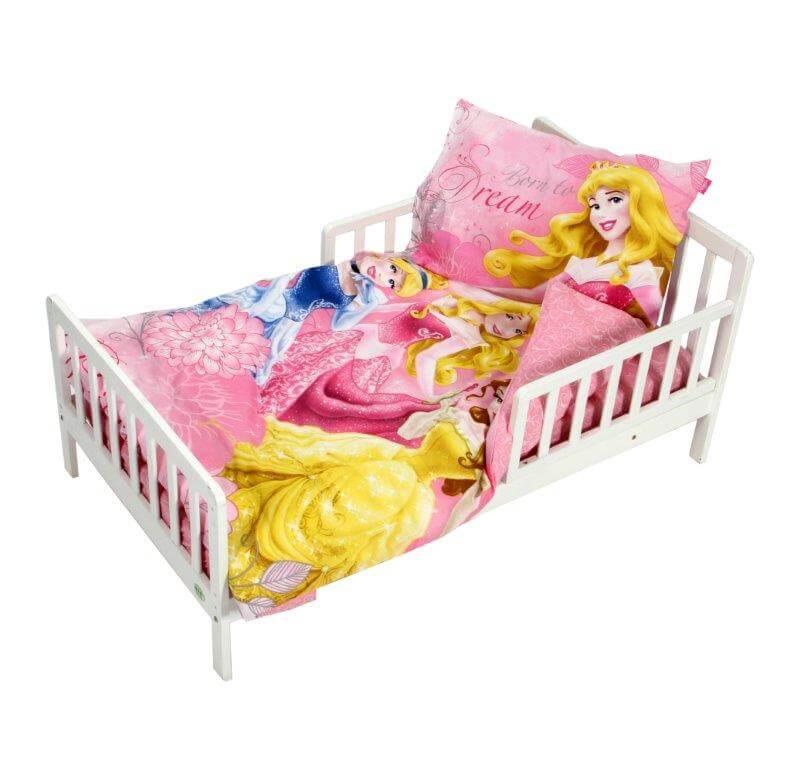 סט מצעים קומפלט למיטת תינוק ומעבר נסיכות דיסני
