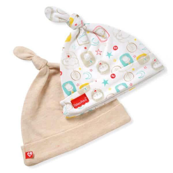 כובעי טריקו צבע בז לתינוק