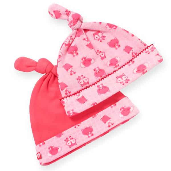 כובעי טריקו לתינוק צבע ורוד