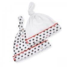 כובעי טריקו לתינוק צבע לבן אדום