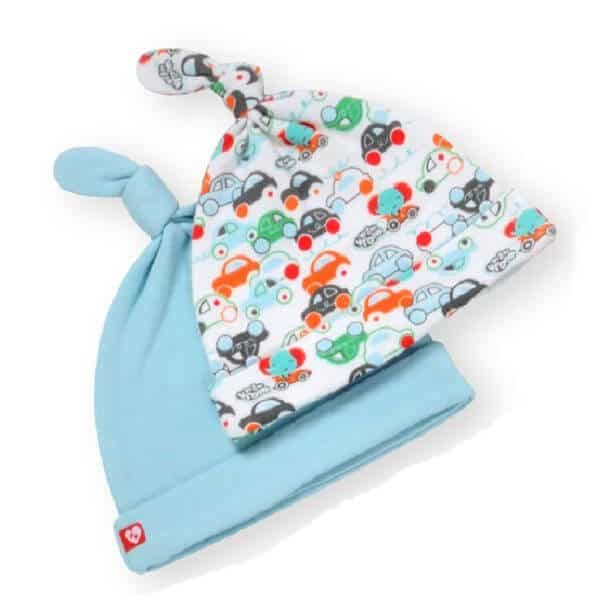 כובעי טריקו צבע תכלת לתינוק