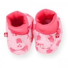 זוג נעלי תינוק טריקו ורוד