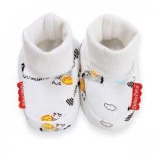 זוג נעלי טריקו לתינוק אריה לבן