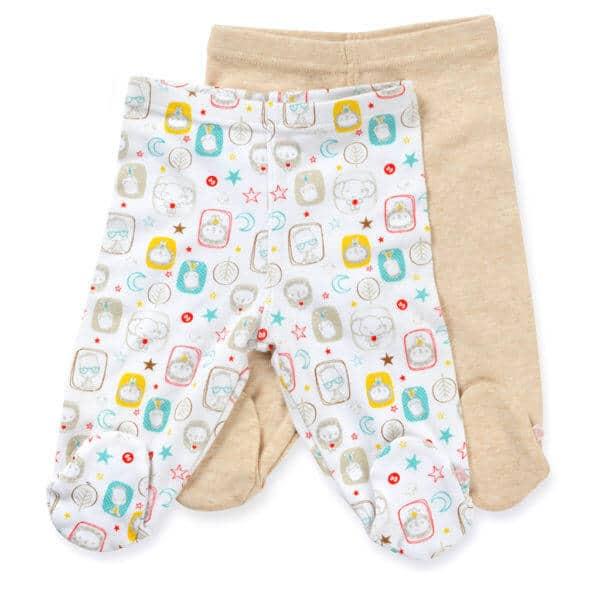 זוג רגליות צבע בז' לתינוק