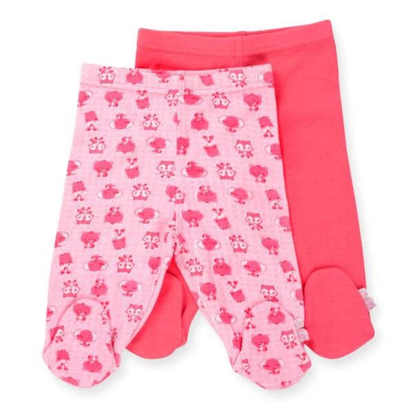 זוג רגליות לתינוק צבע ורוד