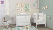 חדר תינוקות דובון עם כוכבים רהיטי סגל