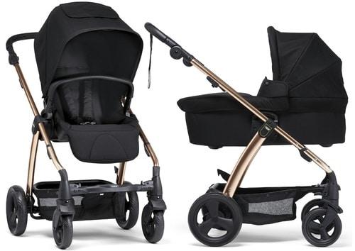 עגלת תינוק מאמאס אנד פאפאס סולה 2 צבע שחור עם שלד מוזהב