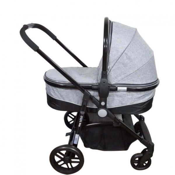 עגלת תינוק משולבת + סלקל איזי בייבי מימי אפור