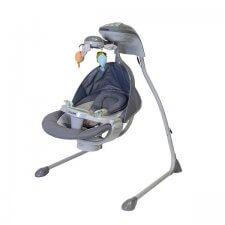 נדנדה לתינוק עם מובייל מסתובב TY801 אפור בייבי סייף